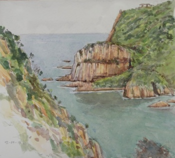 knysna heads watercolour