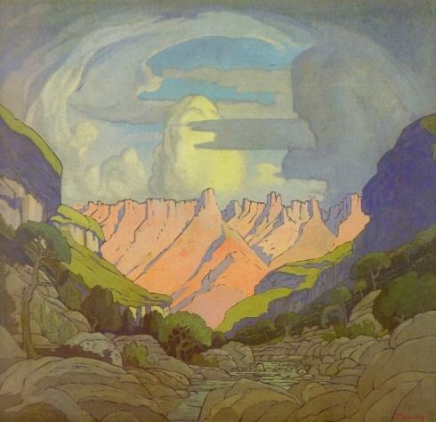 JH Pierneef, Mont au Sources. c 1931